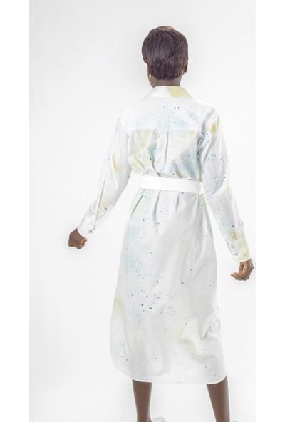 Jacket & Vest Beyaz Gömlek Uzun Elbise 40