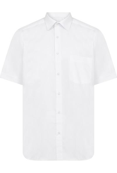 Hatemoğlu Beyaz Cepli Kısa Kol Klasik Gömlek