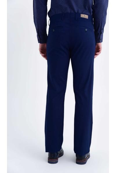 Hatemoğlu Lacivert Desenli Regular Pantolon