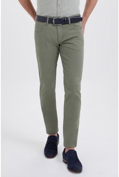 Hatemoğlu Slim Fit Yeşil Pantolon
