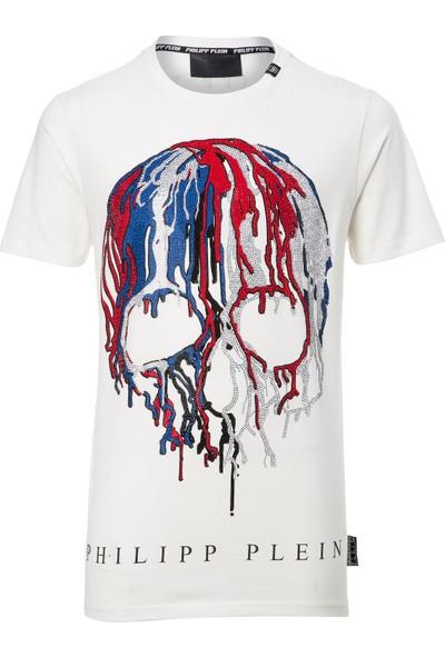 Philipp Plein Erkek T-Shirt Beyaz