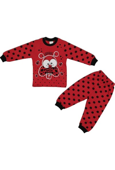 AlpCollection Kırmızı Uğur Böceği 2'li Pamuklu Pijama Takım