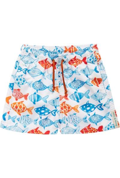 Petite And Cute Blue Fish Çocuk Mayo Şort 4 Yaş