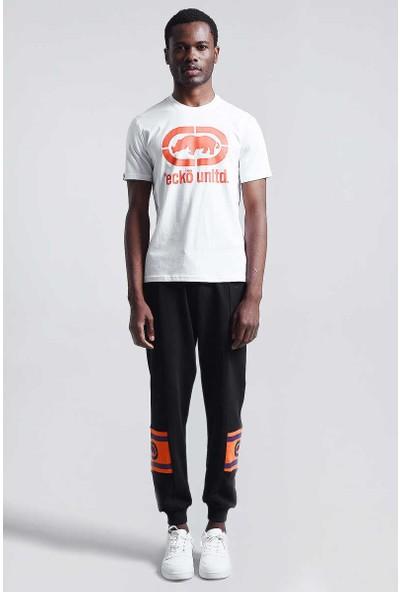 Ecko Beyaz Erkek Baskılı Bisiklet Yaka T-Shirt