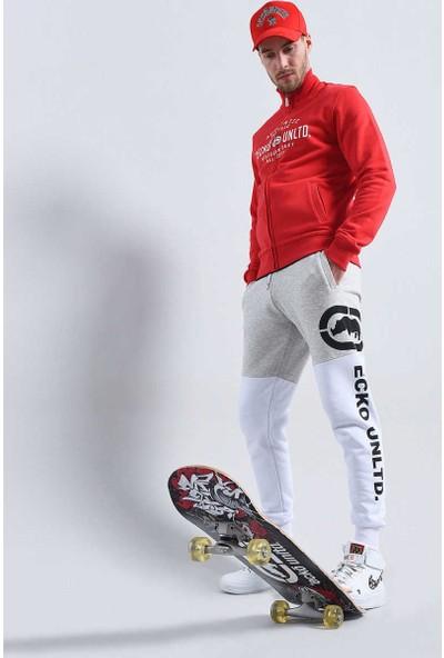 Ecko Kırmızı Erkek Baskılı Fermuarlı Sweatshirt