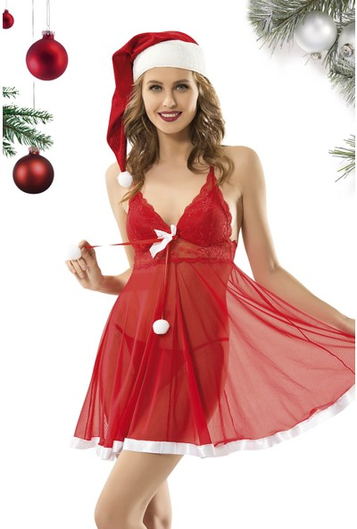 Vip Madame Kadın Noel Yıl Başı Kostüm Kırmızı M