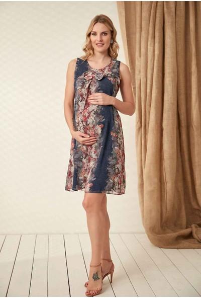 Görsin Fiyonk Detaylı Şifon Elbise