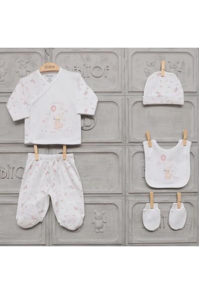 Bebitof Tavşan 5'li Bebek Hastane Çıkış Seti 20006