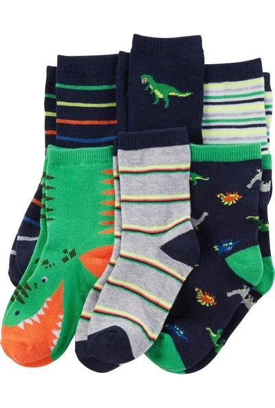 Carter's Dinozor Desenli 6'lı Bebek Çorabı