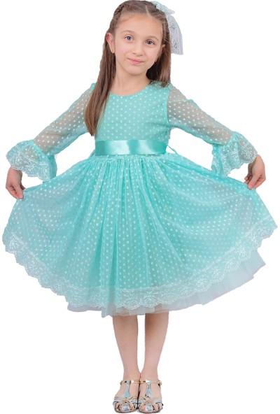 Pumpido Prenses Elbise Su Yeşili