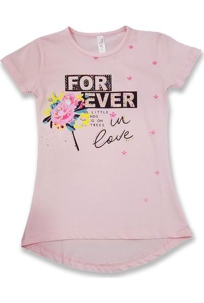 Difa For Ever Taşlı Baskılı Kız Çocuk T-Shirt