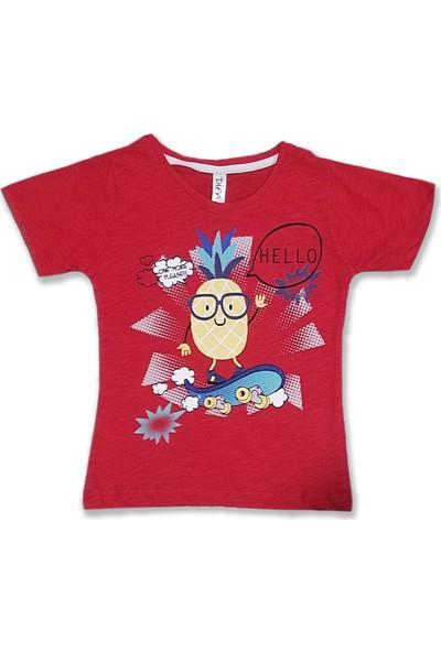 Difa Hello Ananas Baskılı Erkek Çocuk T-Shirt