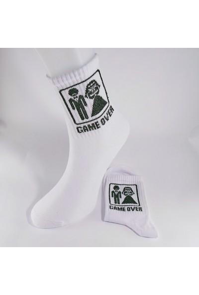Cool Store Game Over Eğlenceli Unisex Soket Çorap
