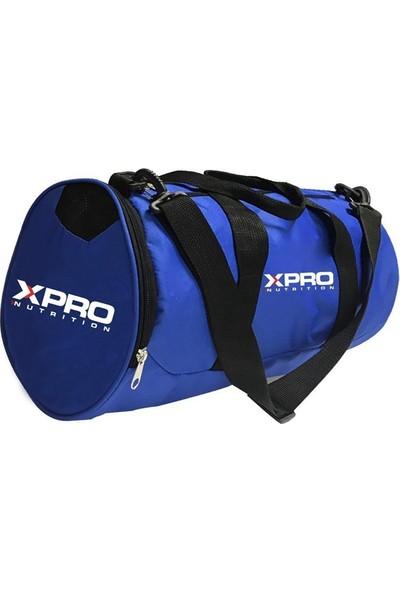Xpro Nutrition Silindir Spor Çanta Mavi 47CMX27CM
