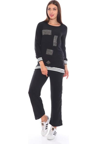 Alfa Abiye Kadın Pantolon Tunik Taşlı 2'li Takım 6014S 36
