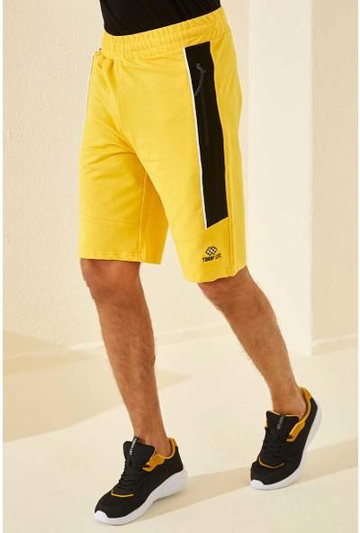 Tommy Life Yan Şeritli Sarı Erkek Şort