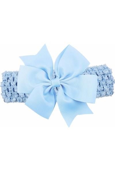 Bba New Trend Mavi Lastikli Fiyonk Çoçuk Bebek Saç Bandanası