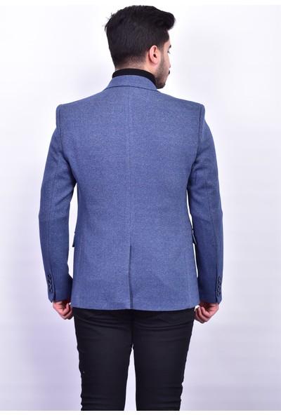 D&A Mavi Classic Erkek Ceket DA-1649