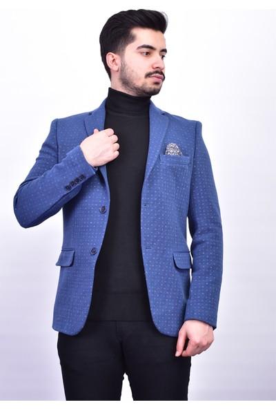 D&A Mavi Classic Erkek Ceket DA-1650