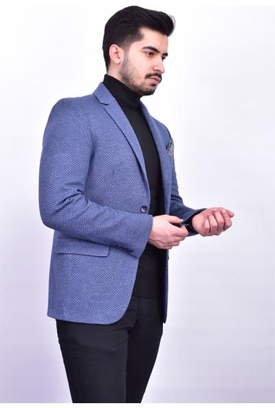 D&A Mavi Classic Erkek Ceket DA-1652
