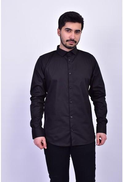 D&A Siyah Erkek Classic Gömlek GM01