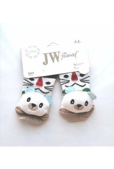 Jewal Oyuncak Ayı Aksesuarlı Pamuklu Bebek Çorabı