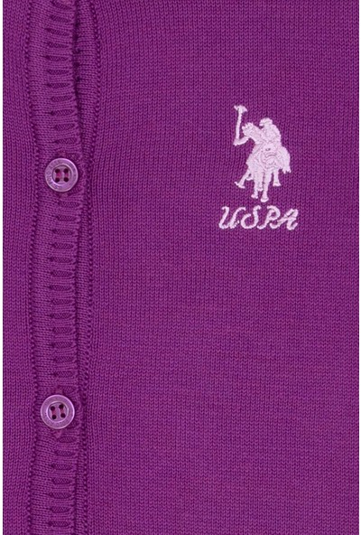 U.S. Polo Assn. Kız Çocuk Triko Hirka 50206149-VR037