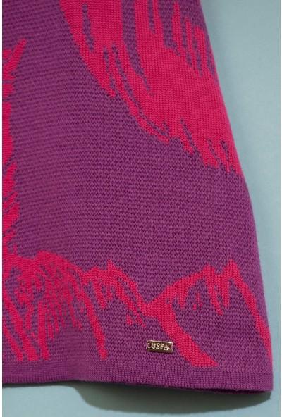 U.S. Polo Assn. Kız Çocuk Triko Panço 50207033-VR023