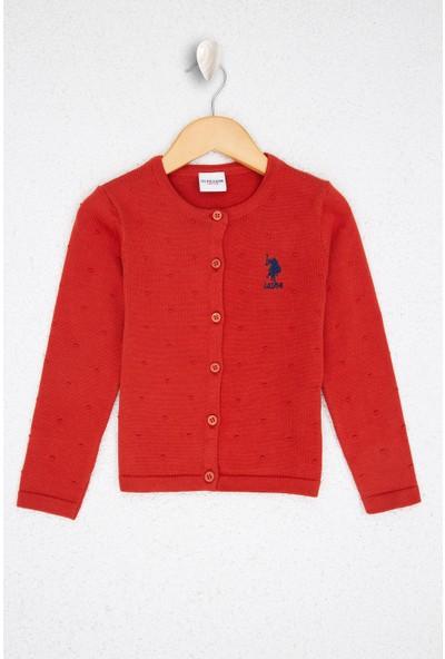 U.S. Polo Assn. Kız Çocuk Triko Hirka 50208717-VR031