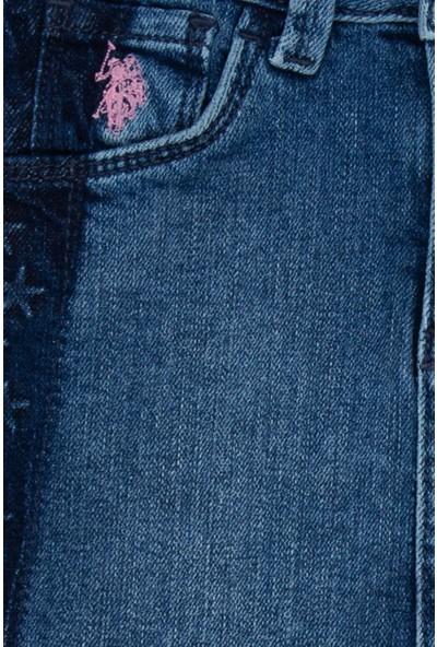 U.S. Polo Assn. Kız Çocuk Denim Etek 50208999-DN0023