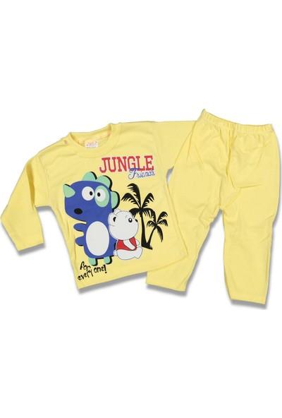 Bebeem 89441 Erkek Jungle Friends Pijama Takım