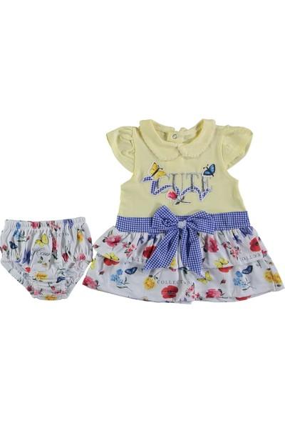 Tofigo Baby Cute Nakışlı 2 Parça Çiçekli Mini Elbise 6 - 9 Ay