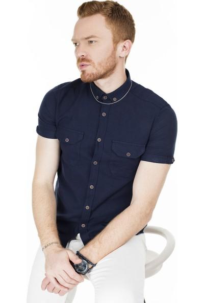 Buratti Kısa Kollu Süper Slim Fit Gömlek