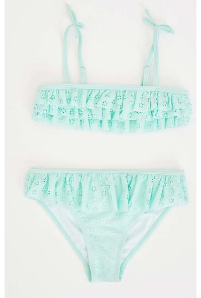 DeFacto Kız Çocuk Fırfır Detaylı Bikini Takım N0535A620SP