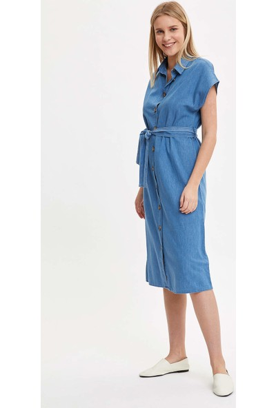 Defacto Jean Gömlek Elbise