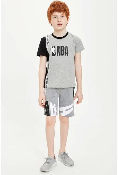 Defacto Erkek Çocuk Nba Lisanslı Bisiklet Yaka T-Shirt