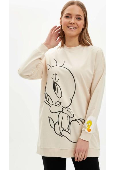 Defacto Tweety Lisanslı Sweatshirt