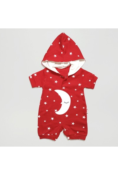 By Murat Yıldız ve Ay Dede Ayrıntılı Kapüşonlu Kısa Bebek Tulum
