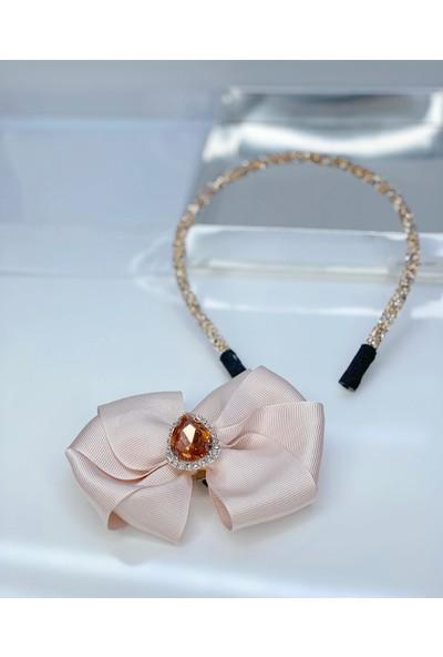 Queen Accessories Pudra Kristal Taşlı Luxury Anne Kız Çocuk Hediye Kına Düğün Tak Çıkar Taç