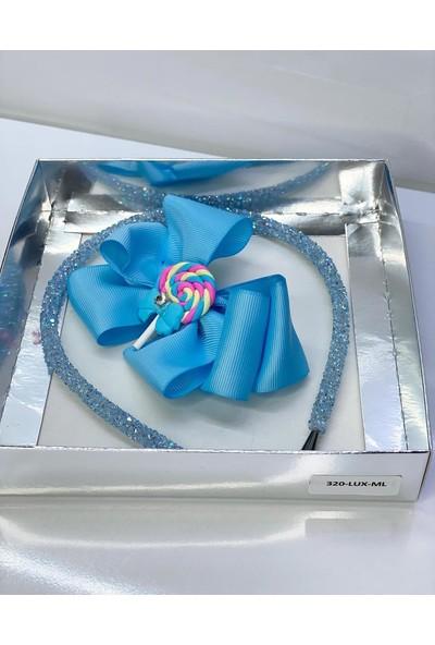 Queen Accessories Mavi Lolipop Lu Luxury Anne Kız Çocuk Hediye Kına Düğün Tak Çıkar Taç