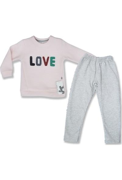 Bebiço Kids Love Yazılı Kız Çocuk Takım