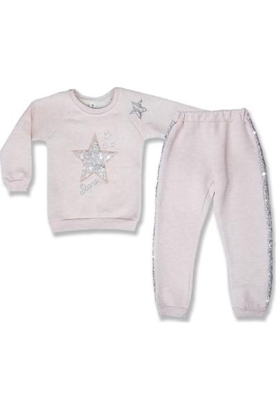 Bebiço Kids Pullu Yıldız Kız Çocuk 3 İp Ribanalı Takım