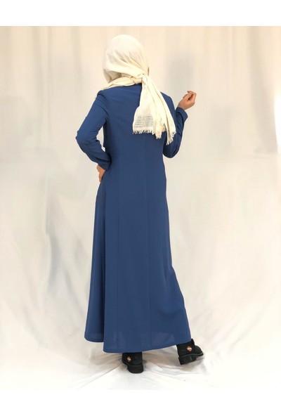 Nazz 8104 Yazlık Pardesü Mavi