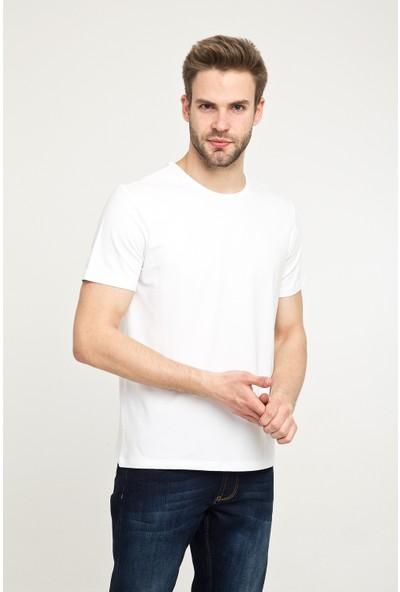 Kiğılı Bisiklet Yaka Düz Regular Fit T-Shirt
