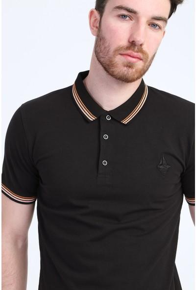 Kiğılı En Cvl Polo Yaka Düz Slimfit T-Shirt