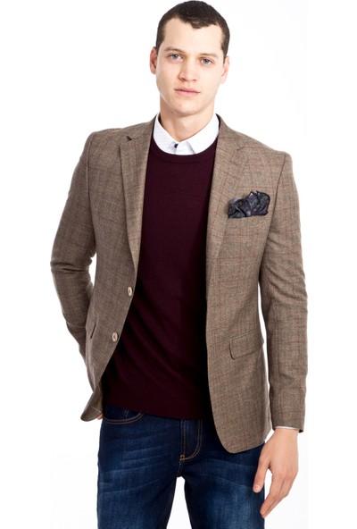 Kiğılı Slim Fit Ekose Ceket
