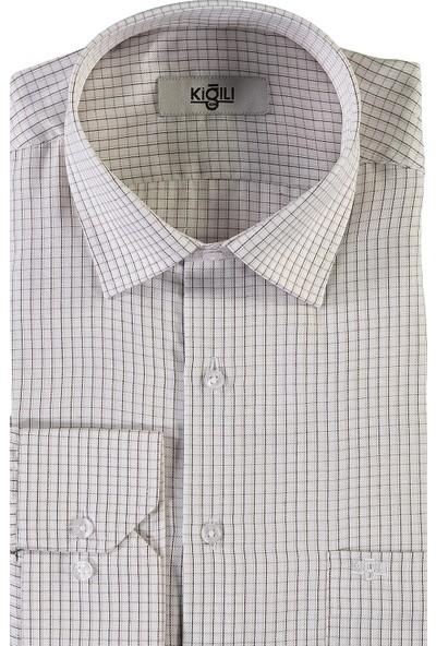 Kiğılı Uzun Kol Klasik Ekose Gömlek
