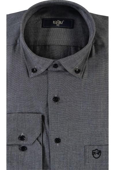 Kiğılı Uzun Kol Oxford Spor Gömlek