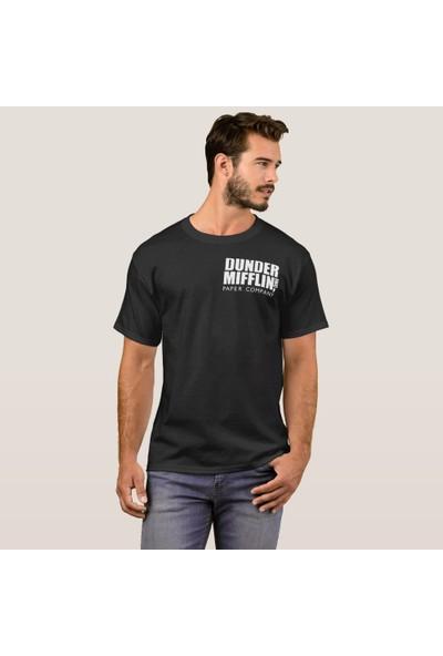 Kuppa Shop The Office Baskılı Siyah Tişört The Office TShirt