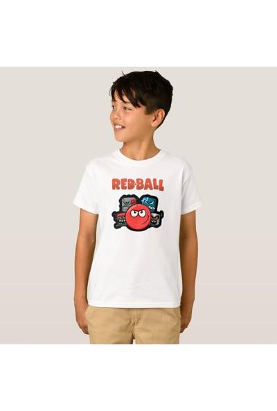 Kuppa Shop Redball Çocuk Tişört Kişiye Özel Red Ball Erkek Çocuk Tişört